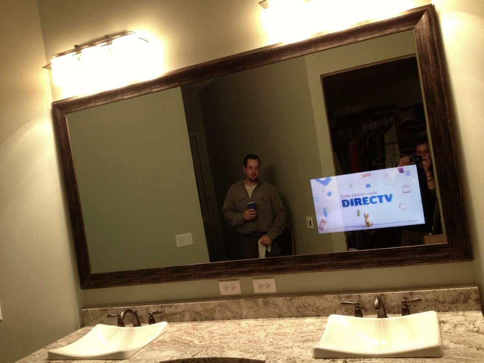 DIY Bathroom Vanity TV Tv Mirror Monolith