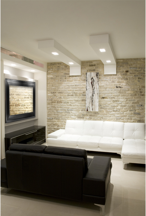 Modern Room With Samsung Led Mirror Tv