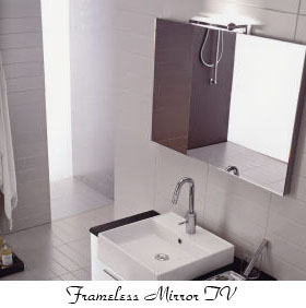 frameless mirror tv