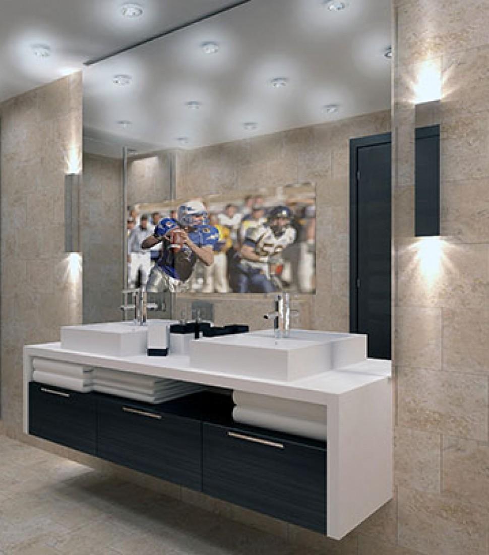 Lighted Vanity Mirror With Tv : Hidden Television Shop Framed & Frameless Mirror TV