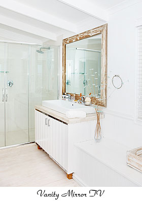 Mirror Tv Frame Your Led Lcd Or Plasma Television In Bathroom Cost