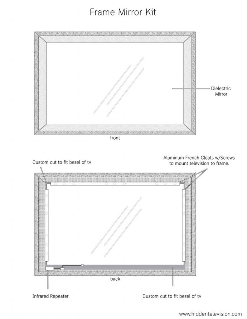 Frame Mirror Kit Technical Drawing