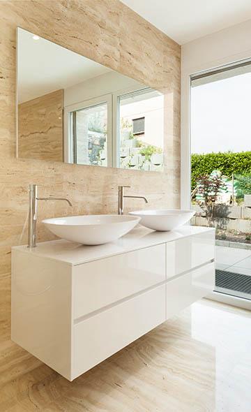 Vanity TV Mirror Modern Bathroom
