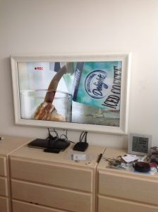 White Driftwood Mirror TV