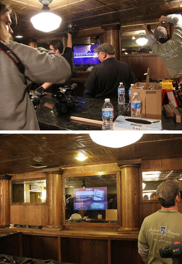 Bar TV in Man Caves Spy Cave