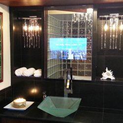 Vanity TV Mirror In Luxury Bathroom