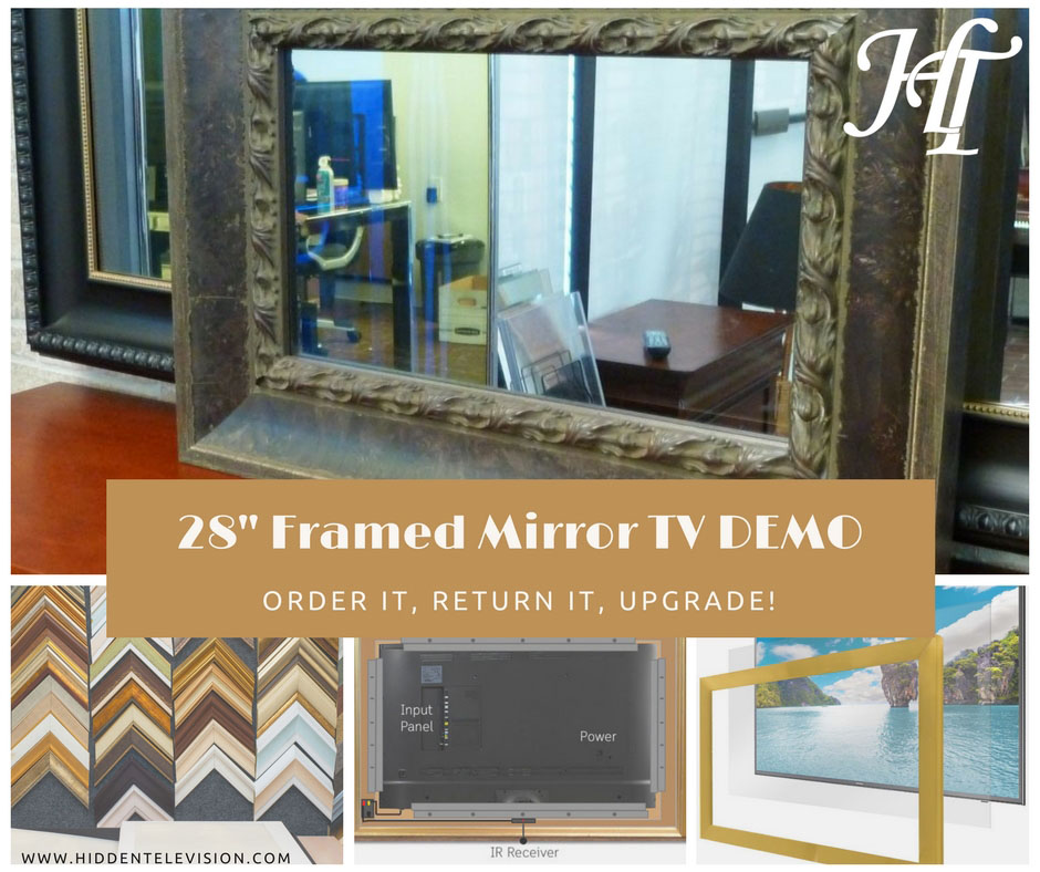 28″ Framed Mirror TV Demo – Brown Rosewood – BW222-029