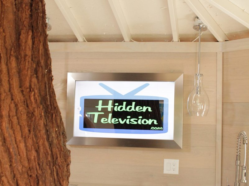 This Framed Mirror TV was part of a Treehouse Masters special.