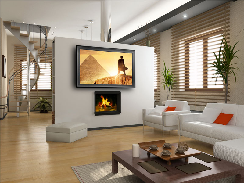 Mirror TV in Modern Interior