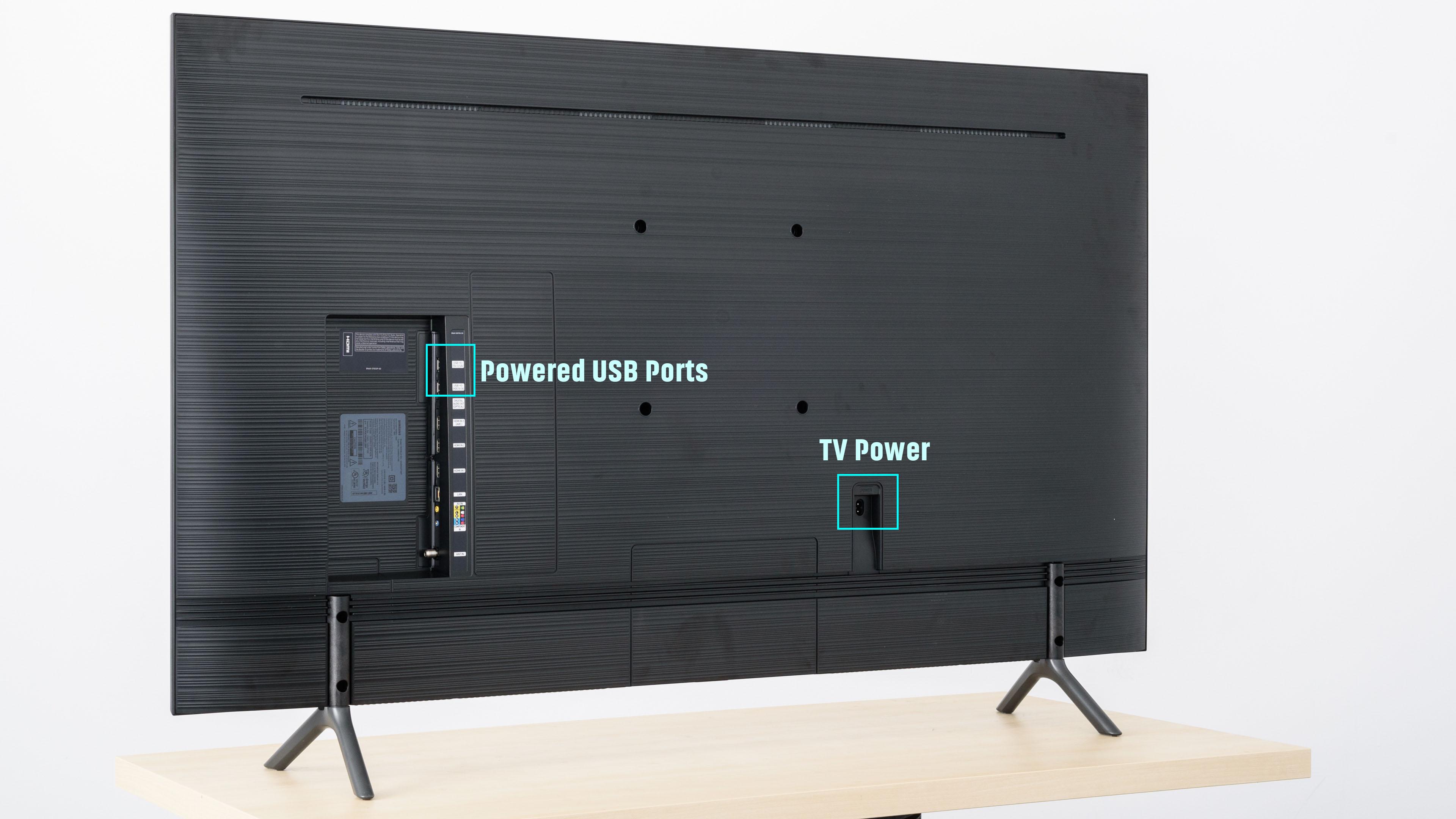 nu7100 back of tv