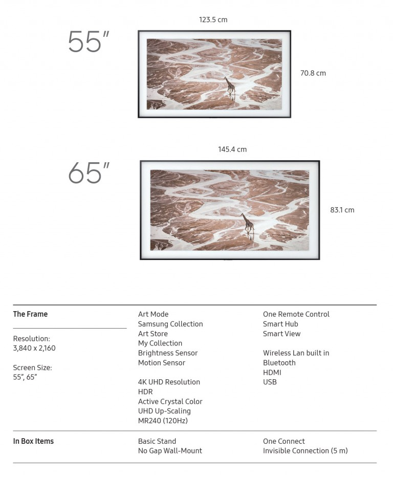 framed-art-tv-specifications
