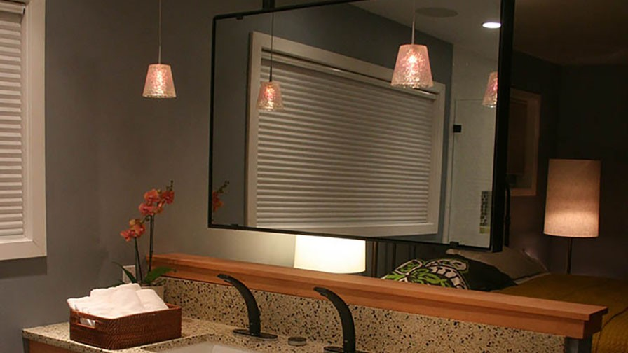 Vanity TV Mirror (Turned Off) in Bath Crashers Hi-Tech Seattle B