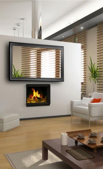 modern interior mirror tv design